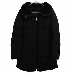 ZARA | Down Filled Puffer Jacket with Faux Fur